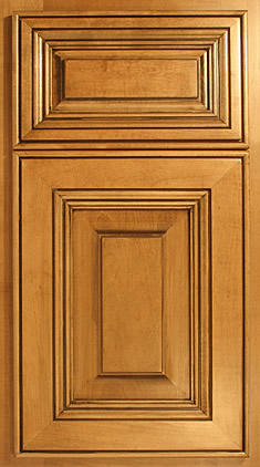 Color: Fruitwood/Black Glaze Wood: Soft Maple Frame: DP Panel: CC Outside  Edge: Lg Bead